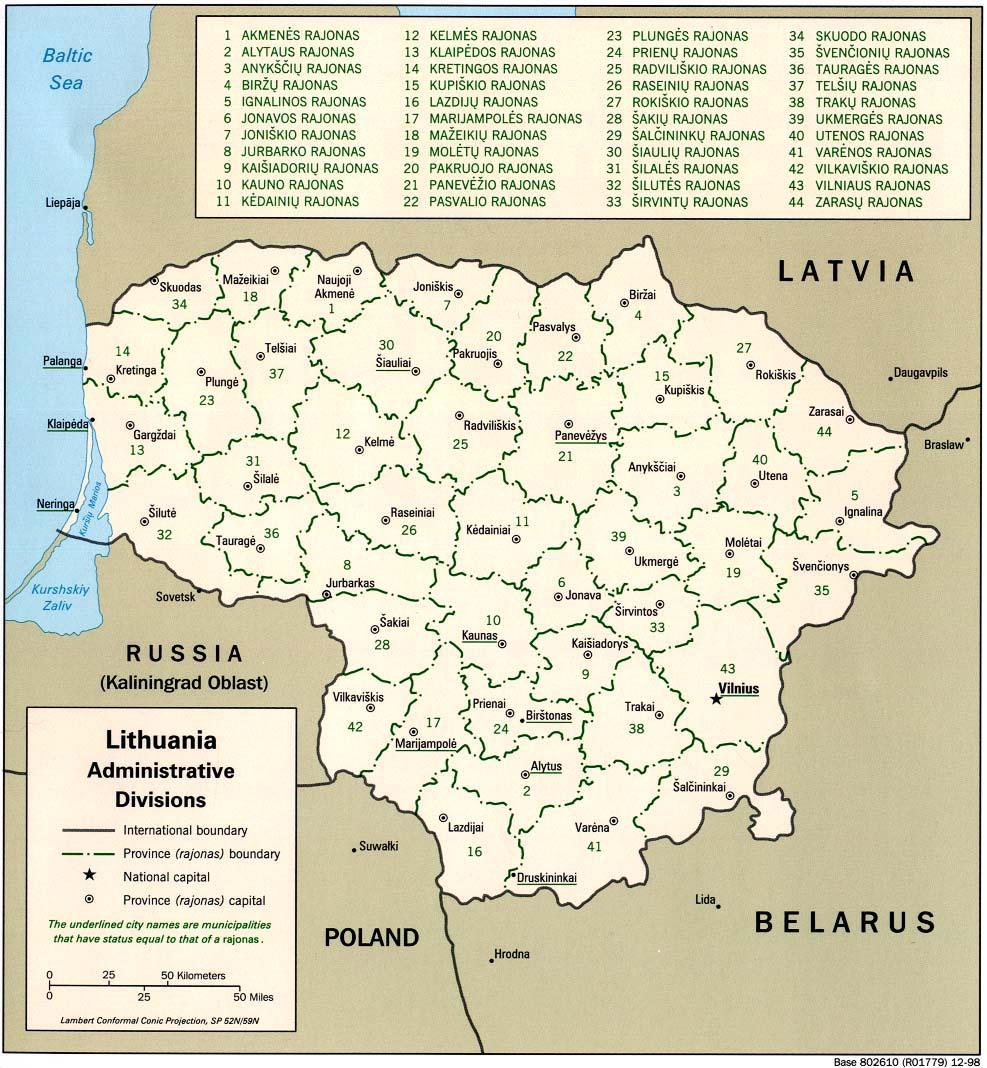Litauen Karte