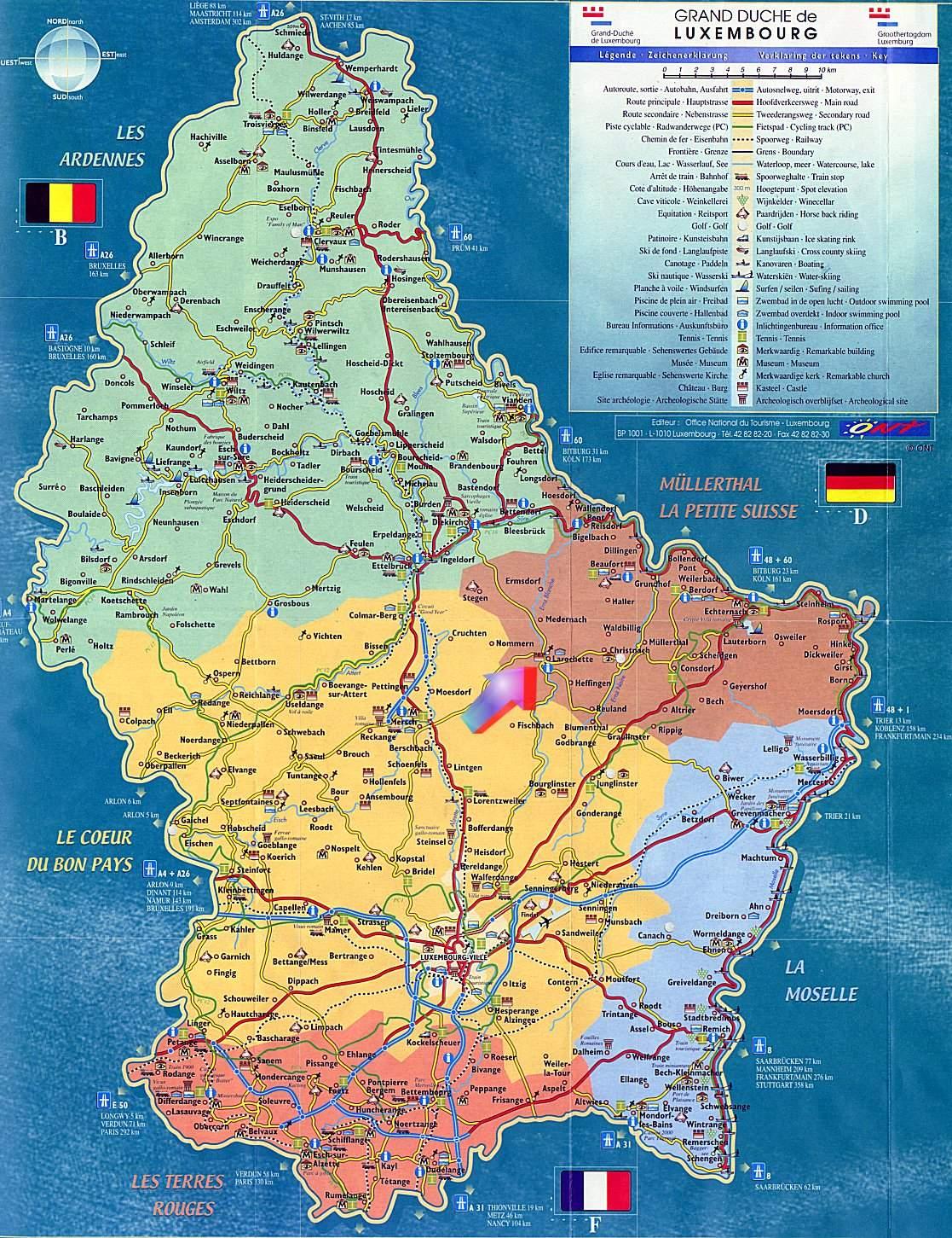 Luxemburg Karte