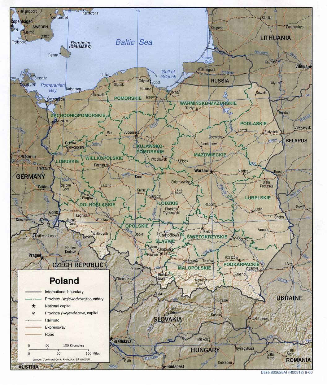 Polen Landkarte