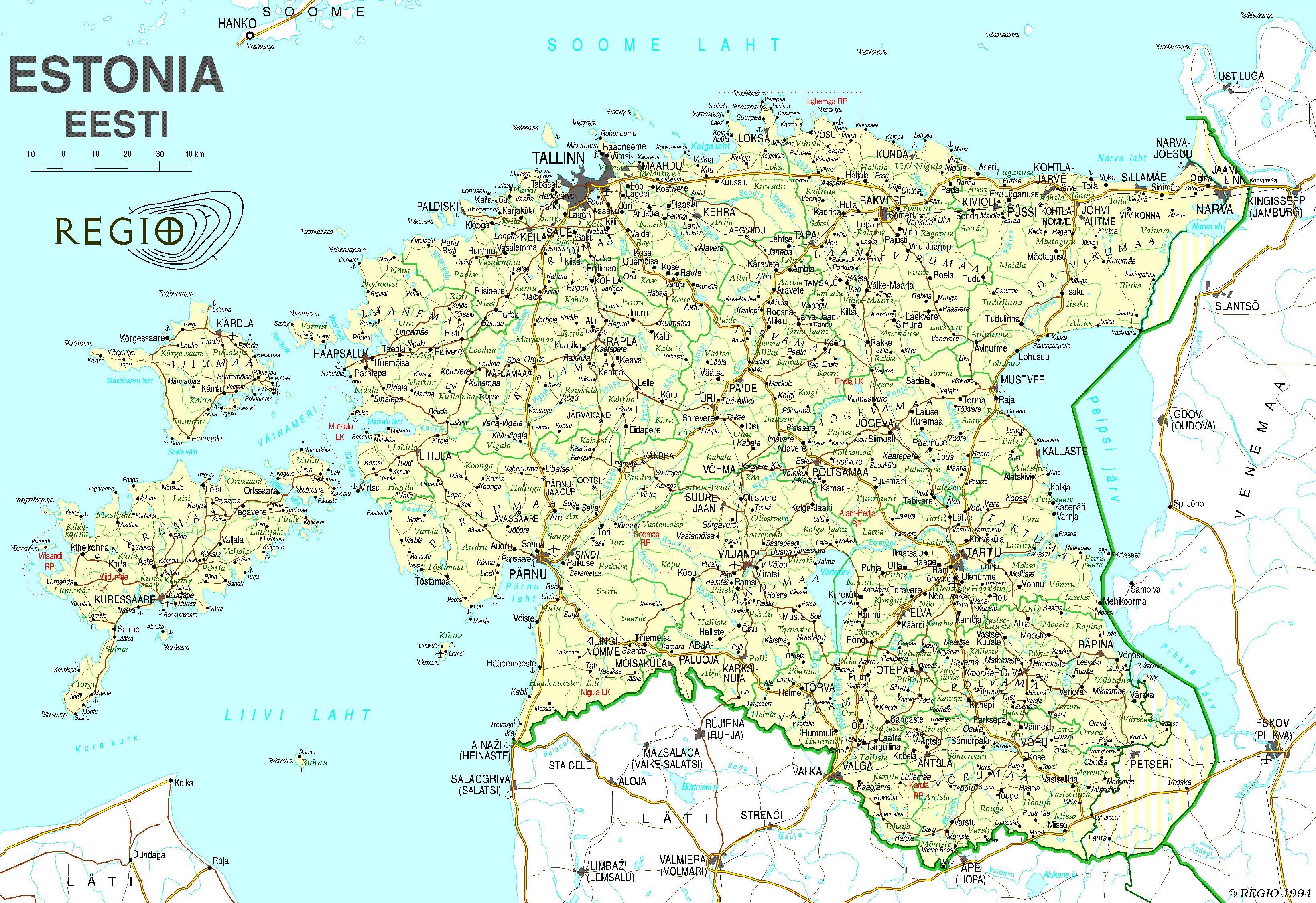 Estland Karte