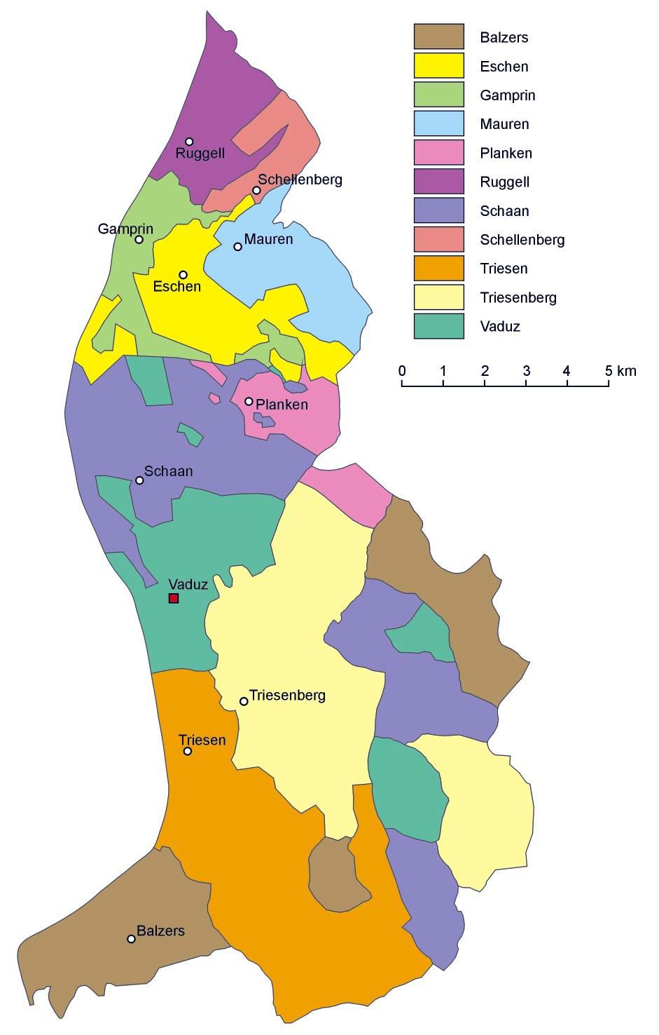 Liechtenstein Karte